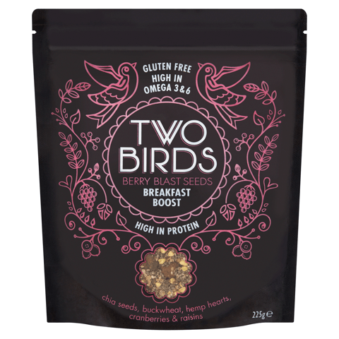 Two Birds Berry Blast Seeds Breakfast Boost packet
